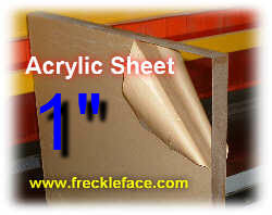 1 X 48 X 96 Acrylic Sheet-MOTOR FREIGHT ONLY.  Out of stock until December, 2020. Order now and we'll ship when available
