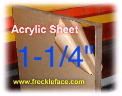 "Acrylic Sheet 1-1/4"" Thick"