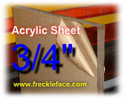 3/4 X 48 X 96 Acrylic Sheet-MOTOR FREIGHT ONLY