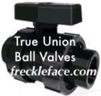 true union plastic ball valve