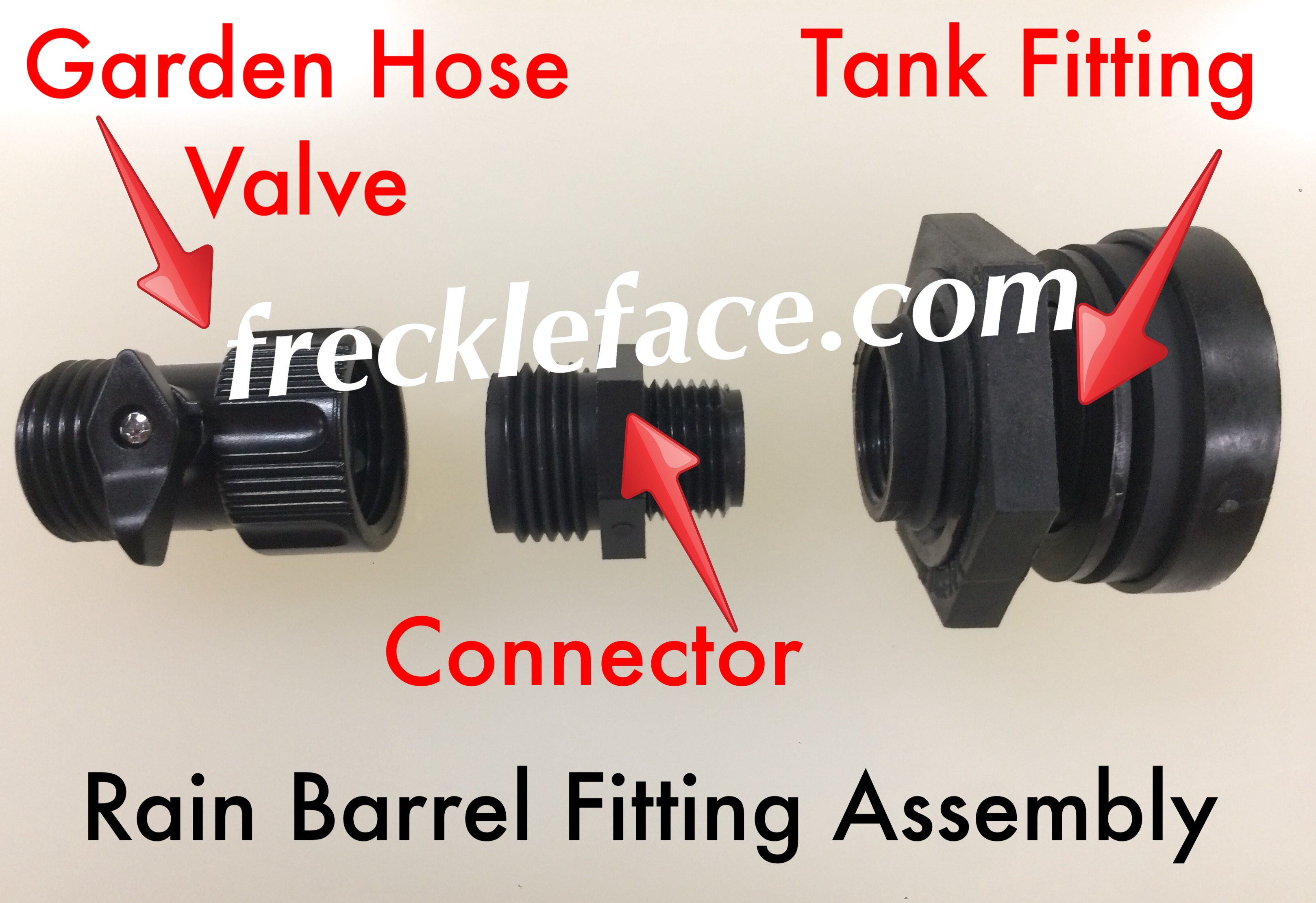 Rain Barrel Faucet Rain Barrel Fitting Kit parts