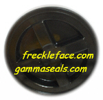 Gamma Seal, Black <br>Complete Including Lid, Adapter Ring, and Gaskets