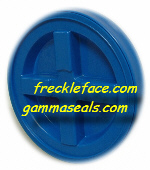 4 Pack Gamma Seal, Blue Complete Including Lids, Adapter Rings, and Gaskets.  SHIPPING INCLUDED, you MUST have a U.S. Postal Service address