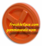 4 Pack Gamma Seal, Orange Complete Including Lids, Adapter Rings, and Gaskets.  SHIPPING INCLUDED, you MUST have a U.S. Postal Service address
