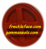 4 Pack Gamma Seal, Red Complete Including Lids, Adapter Rings, and Gaskets.  SHIPPING INCLUDED, you MUST have a U.S. Postal Service address