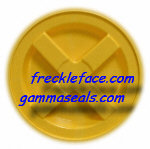 4 Pack Gamma Seal, Yellow Complete Including Lids, Adapter Rings, and Gaskets.  SHIPPING INCLUDED, you MUST have a U.S. Postal Service address