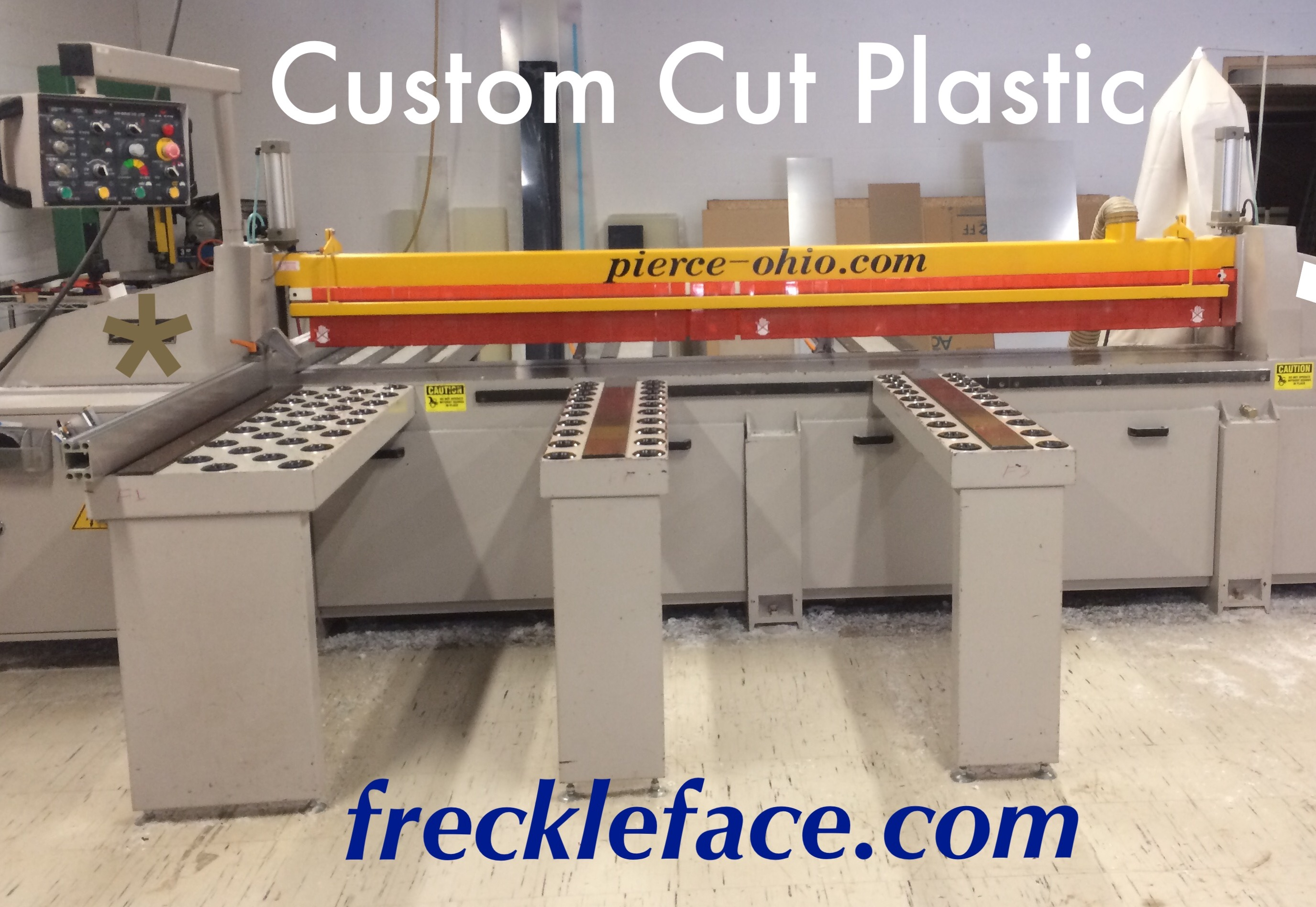 front view of plastic custom saw