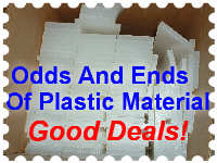 PLASTIC MATERIAL ODDS AND ENDS. GOOD DEALS!!!