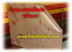 """Lexan Polycarbonate Sheet  Clear  0.125"""" 1//8/""""  x 24/"""" x 24/"""" Thermoforming"""
